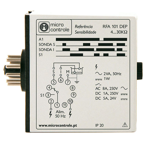 Relé de controlo de enchimento em depósitos com alarme - RFA 101 DEP