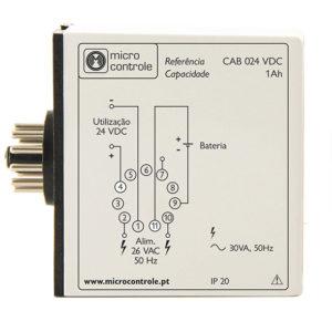 Relé cargador automático de baterías de 12-24V - CAB 12V - Vista de Lado