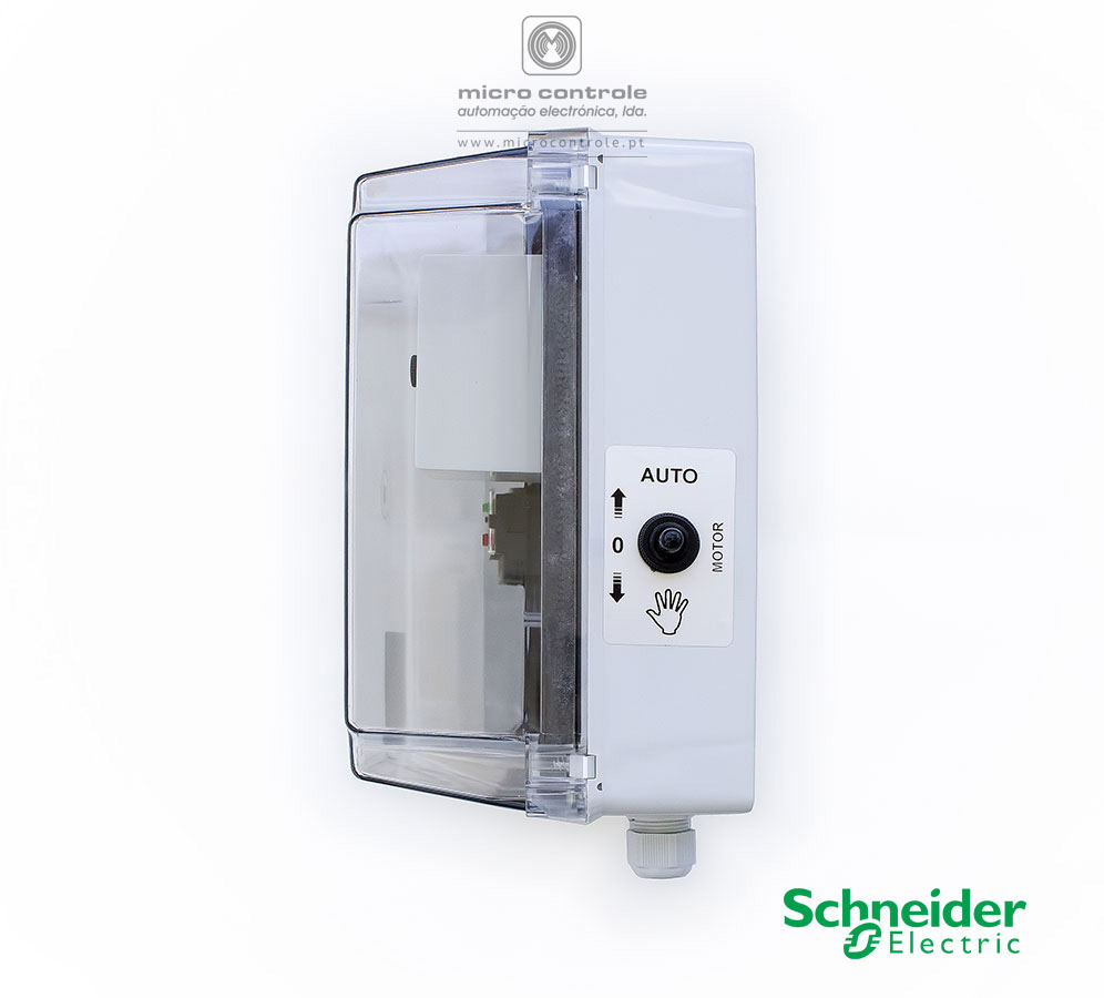 Quadro Eletrónico de Nível para Furo, com contactor e térmico Schneider - Vista Lateral