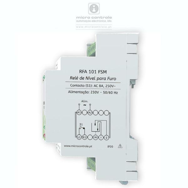 Relé de controlo de nível de esvaziamento para furo ou cisterna - Vista Lateral