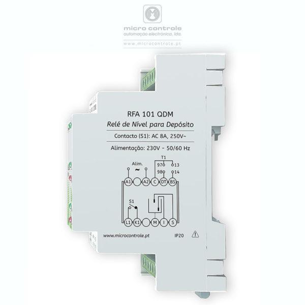 Relé de controlo de nível para enchimento de depósito - Vista Lateral