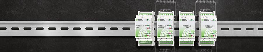 Relés Eletrónicos Modulares de Controlo de Nível de Interface DIN