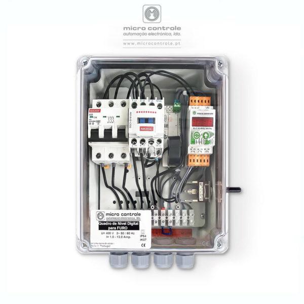 Quadro de Nível Digital para furo - Vista de Topo   Microcontrole - Automação Eletrónica