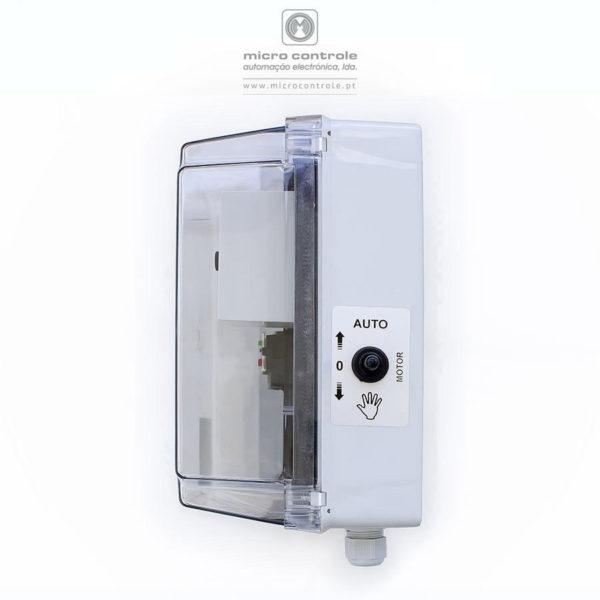 Quadro de nível de depósito para controlo e proteção de electrobombas submersíveis – QN QED - Vista lateral