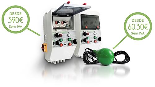 Quadro de Alternância com Alarme 2 Bombas para Saneamento e Regulador de Nível